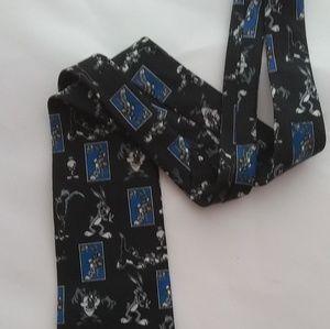 Vintage Looney Tunes Stamp Collection Tie